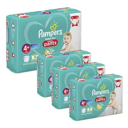 Pampers - 525 couches bébé Taille 4+ baby dry pants