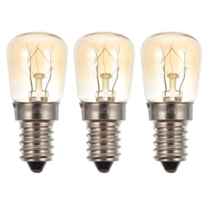 3 pièces lampe de four 25 W halogène de remplacement E14 de lumière résistante à la chaleur pour de sel appareil micro-ondes