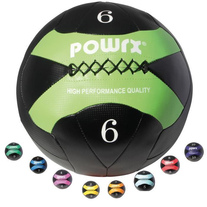 Wall-Ball 2-10kg I balle de balle de médecine en différentes couleurs I Entraînement fonctionnel Poids: 6 kg