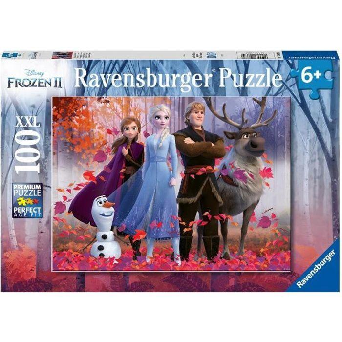 Puzzle 100 p XXL - La magie de la forêt / Disney La Reine des Neiges 2