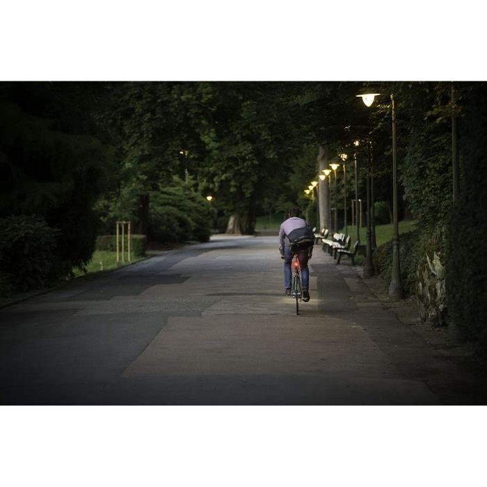 Sigma Sport Batterie LED éclairage pour Vélo Nugget II, 400 m Feu Arrière visibilité, Rechargeable, STVZO (, Noir