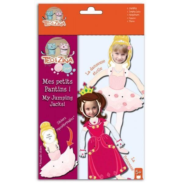 TÉO & ZINA 2 Petits Pantins à Assembler - Princesse/Danseuse