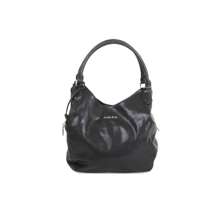Sac à main Hobo Andie Blue collection PIKOK A8167 L x h x p = 34*10*35 - Noir