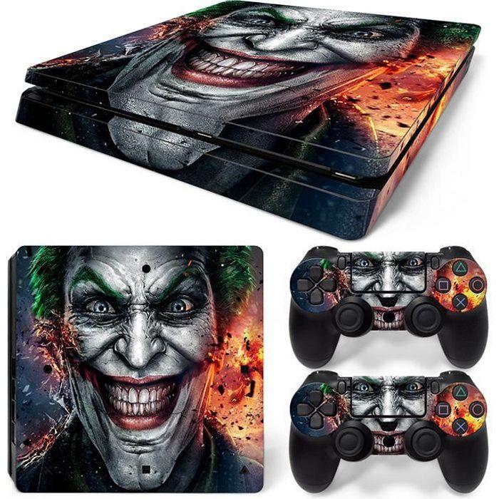 STICKER - SKIN CONSOLE Joker PS4 Slim vinyle peau décalque couverture pou