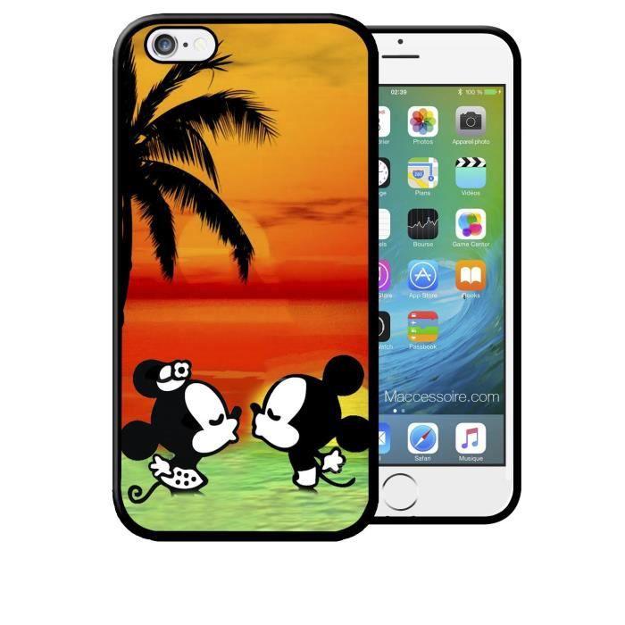 coque iphone 6 4 7 mickey minnie bisous sur la p