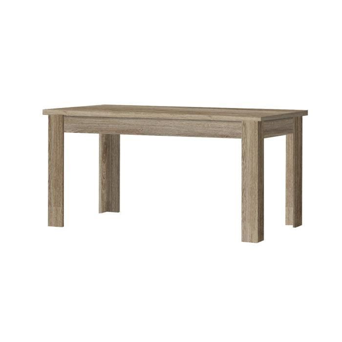 Table de salle manger hard l 160 x p 90 x h 76 cm ou l for Table de salle a manger 160 cm