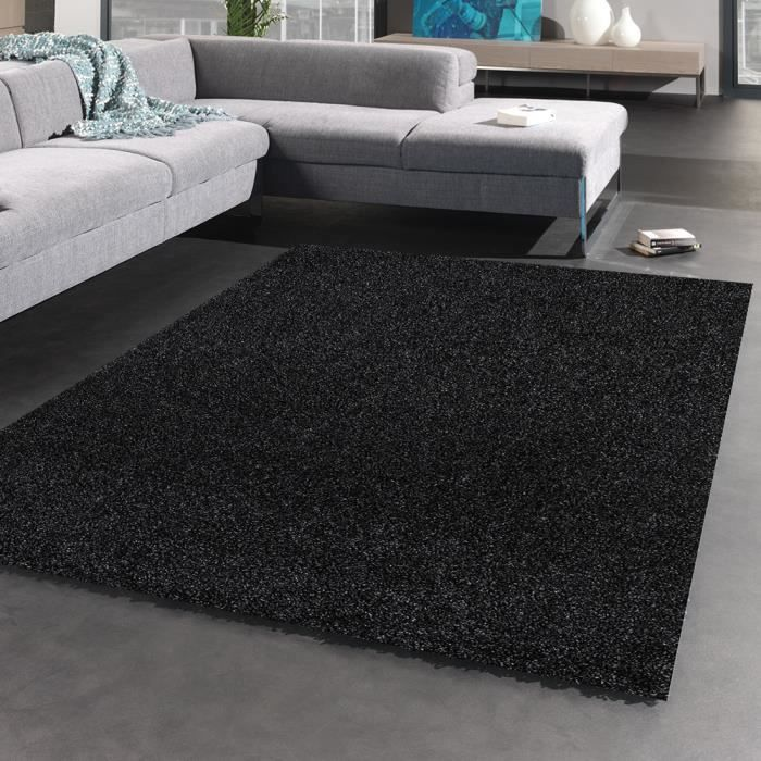 Tapis moderne shaggy flex anthracite 160x230 achat vente tapis cd - Tapis shaggy 160x230 ...