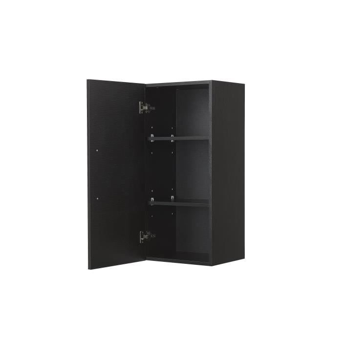 colonne de salle de bain rangement mural noir bilbao. Black Bedroom Furniture Sets. Home Design Ideas
