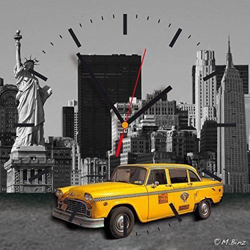 Contento 866261 horloge murale motif new york 28 x 28 cm for Horloge murale new york