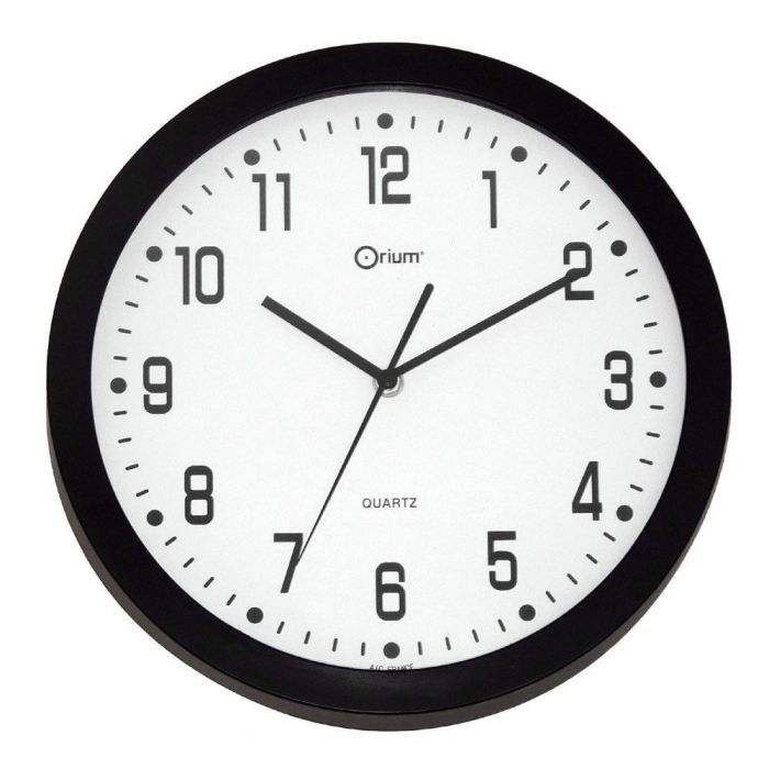 quartz horloge murale 30cm murale d co silencieuse noire achat vente horloge pendule abs. Black Bedroom Furniture Sets. Home Design Ideas