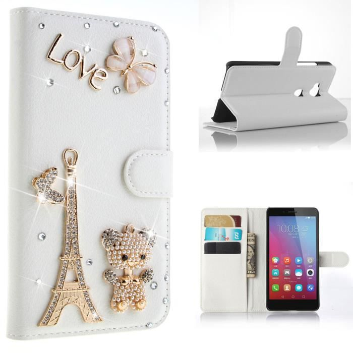 Leathlux housse pour huawei honor play 5x 5 5 tour for Housse honor 5x