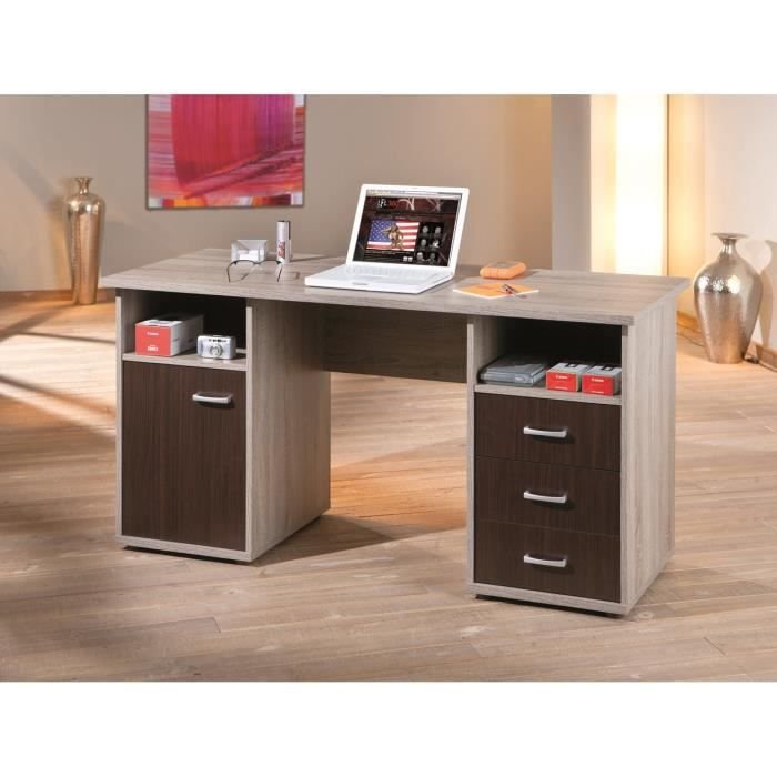 Bureau contemporain ch ne sonoma weng rosco achat for Meuble bureau wenge