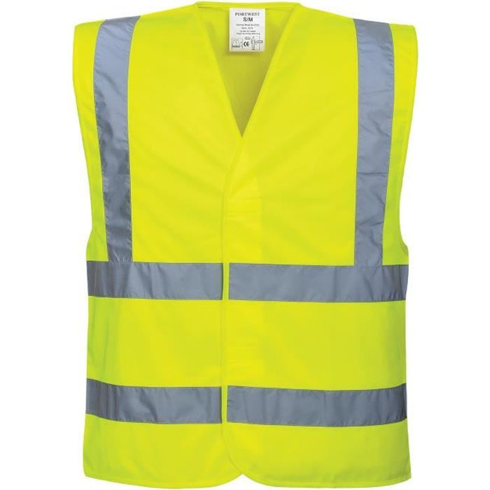 portwest gilet hi vis baudrier jaune achat vente kit de s curit portwest gilets jaune. Black Bedroom Furniture Sets. Home Design Ideas