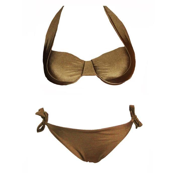 MAILLOT DE BAIN Maillot de Bain Femme 2 Pièces Bikini Armatures