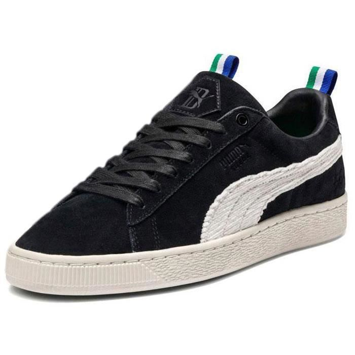 Chaussures homme baskets puma select suede black white big
