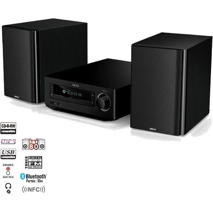 akai ambt 67k cha ne hi fi cd mp3 bluetooth achat vente chaine hi fi akai ambt 67k prix. Black Bedroom Furniture Sets. Home Design Ideas