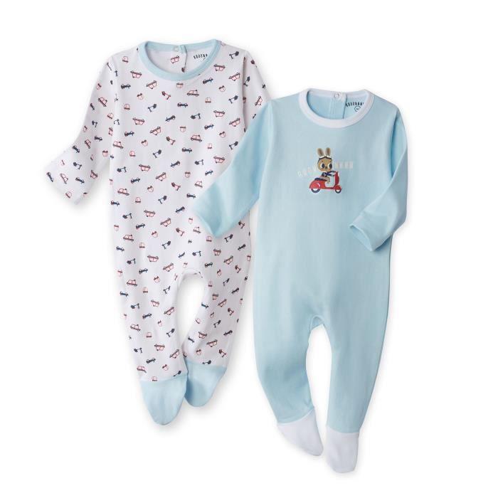 PYJAMA SAHINLER Lot de 2 dors-bien bébé garçon Voyageur