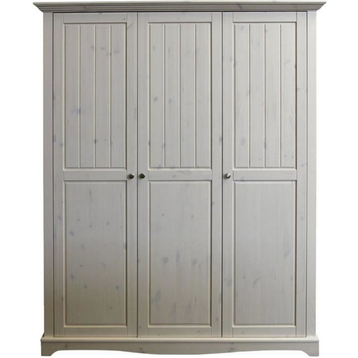 armoire pin massif chaul blanc dim 170 x 58 x 202 cm. Black Bedroom Furniture Sets. Home Design Ideas