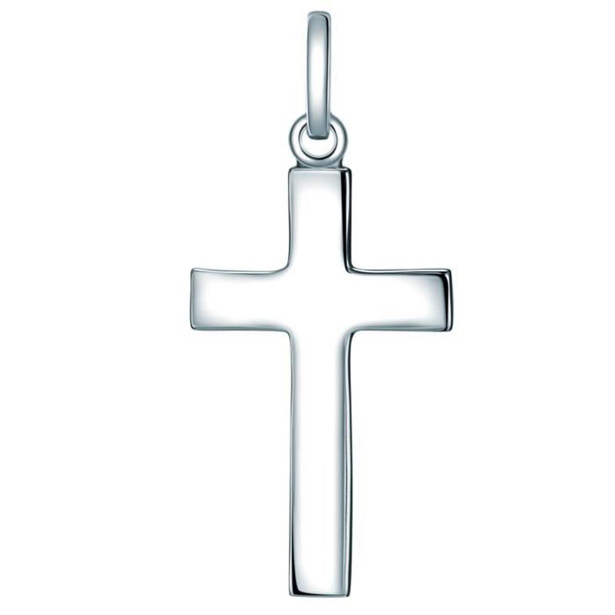 Bijoux Pendentif argent 925 petite croix 12 x 6 mm