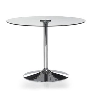 table a manger avec pied inox achat vente table a. Black Bedroom Furniture Sets. Home Design Ideas