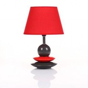 lampe de chevet galets design noir et rouge achat vente lampe de chevet galets desi cdiscount. Black Bedroom Furniture Sets. Home Design Ideas