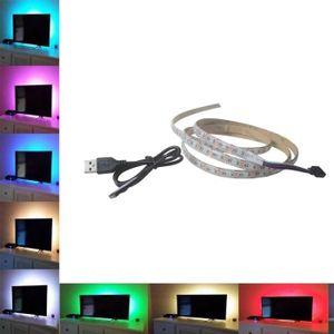 BANDE - RUBAN LED tenoens® 5V 5050 15SMD - 50CM RGB LED bande de lum