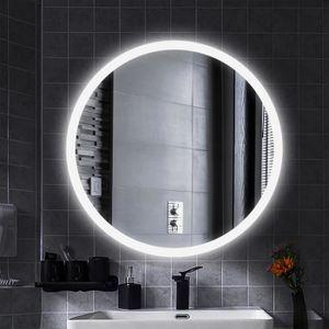 Miroir salle de bain rond led