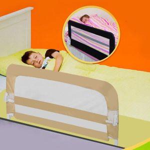 BARRIÈRE DE SÉCURITÉ  Barrière de lit/Garde-corps pour enfants (Beige)