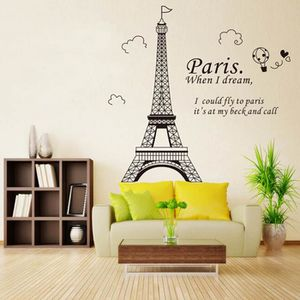 STICKERS La Tour Eiffel DIY Autocollant Mural Stickers Mura