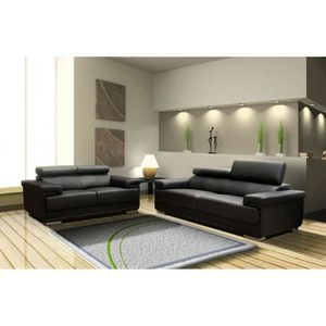 canap fixe cuir achat vente canap fixe cuir pas cher cdiscount. Black Bedroom Furniture Sets. Home Design Ideas