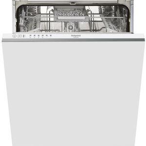 LAVE-VAISSELLE Hotpoint HIE 2B19 C, Entièrement intégré, Blanc, T