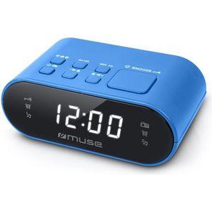 Radio réveil MUSE M-10 BL Radio réveil - horloge 24h - 20 stati
