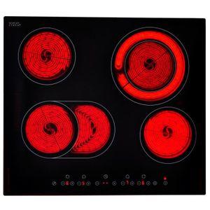 PLAQUE ÉLECTRIQUE  Table de cuisson en Verre Schott plaque vitrocéram