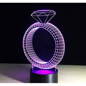 LAMPE A POSER 3D Lampe Illusion Optique Led Veilleuse 3D Lampe D