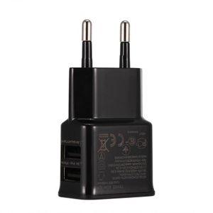 CHARGEUR TÉLÉPHONE 2 Ports USB Chargeur Adaptateur Secteur USB Mural