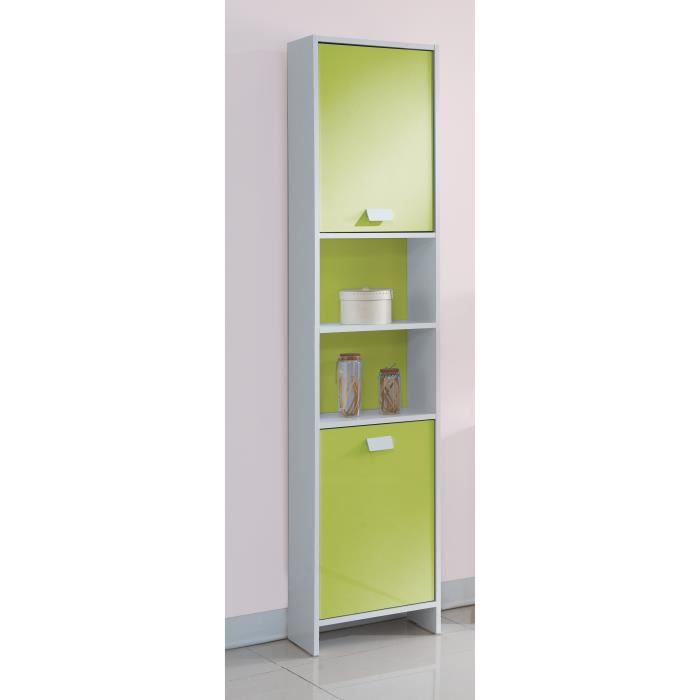 top colonne de salle de bain l 40 cm blanc et vert achat vente colonne armoire sdb top. Black Bedroom Furniture Sets. Home Design Ideas