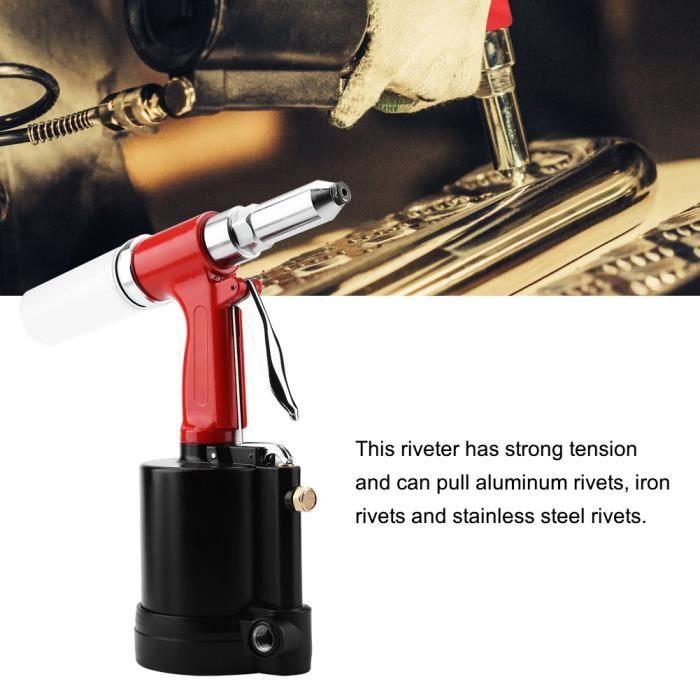 Riveuteuse - Pince - Rivetage Pistolet Pneumatique Air Hydraulique Riveteuse Outil 3-32-,1-8-,5-32-,3-16- et 1-4- - 90-120psi HB020