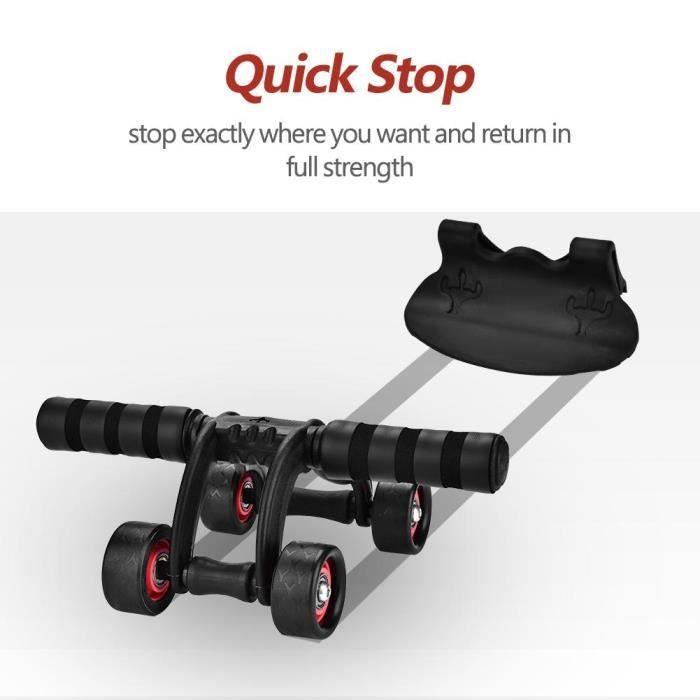 INGSHOP© Système d'entraînement pour abdominaux à 4 roues