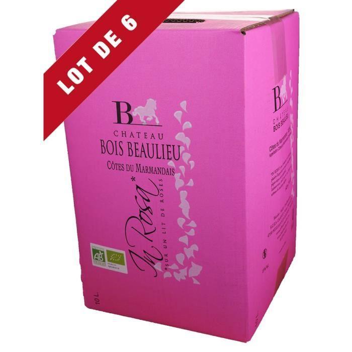 6X Bag-in-Box 10L Château Bois Beaulieu Rosé AOC Côtes du Marmandais - Vin Rosé