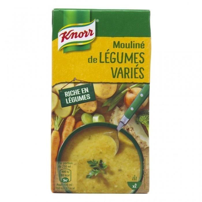 Knorr Mouliné de Légumes Variés 50cl (lot de 4)