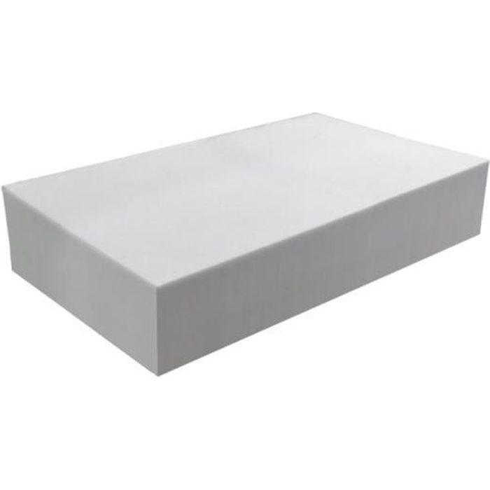 Plaque de mousse 30 kg/m³ - Epaisseur 15 cm 80 x 120 cm Gris