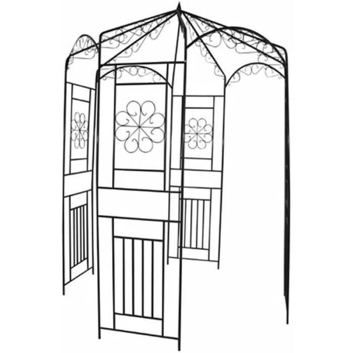 Festnight Arche de Jardin pour Rosiers Fleurs Arceau Rosiers Gloriette 160 x 250cm81