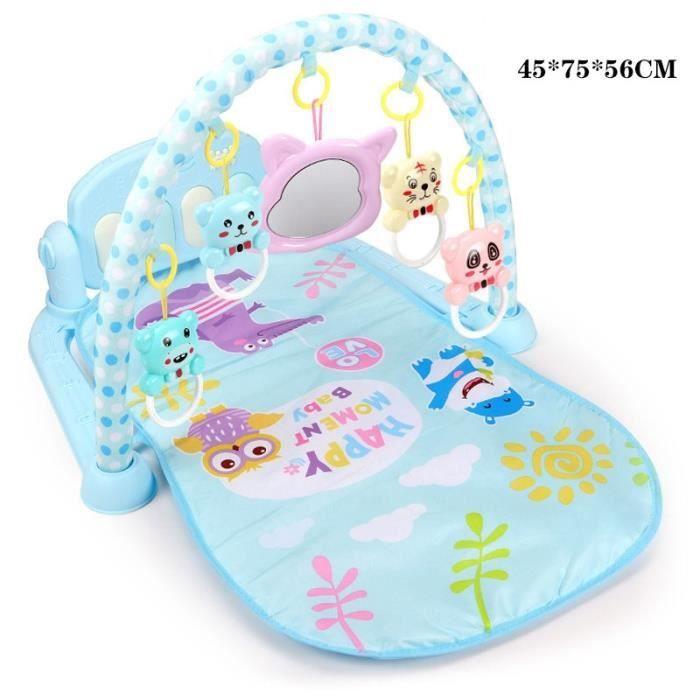 Tapis d'éveil,3 en 1 bébé tapis de jeu bébé jouets de gymnastique éclairage doux hochets jouets musicaux pour bébés - Type blue-3