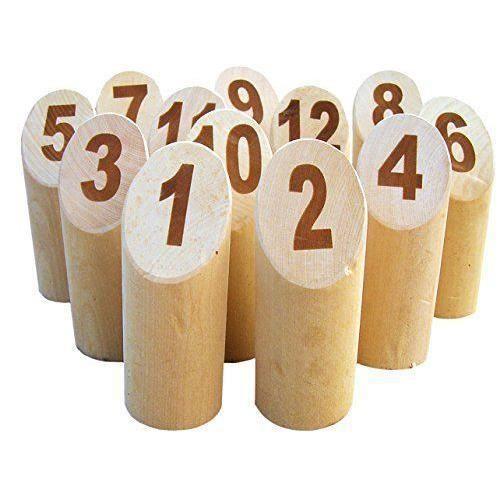 Tactic Jeux 40268 - JEUX/JOUETS - JEUX DE SOCIETE - Mölkky origine dans une caisse en bois Big Size
