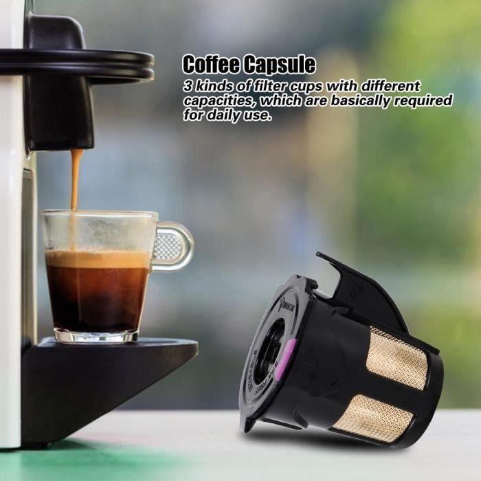 Tasse capsule café rechargeable avec brosse à cuillère adaptée machine à café 2.0 KCUP-LAF