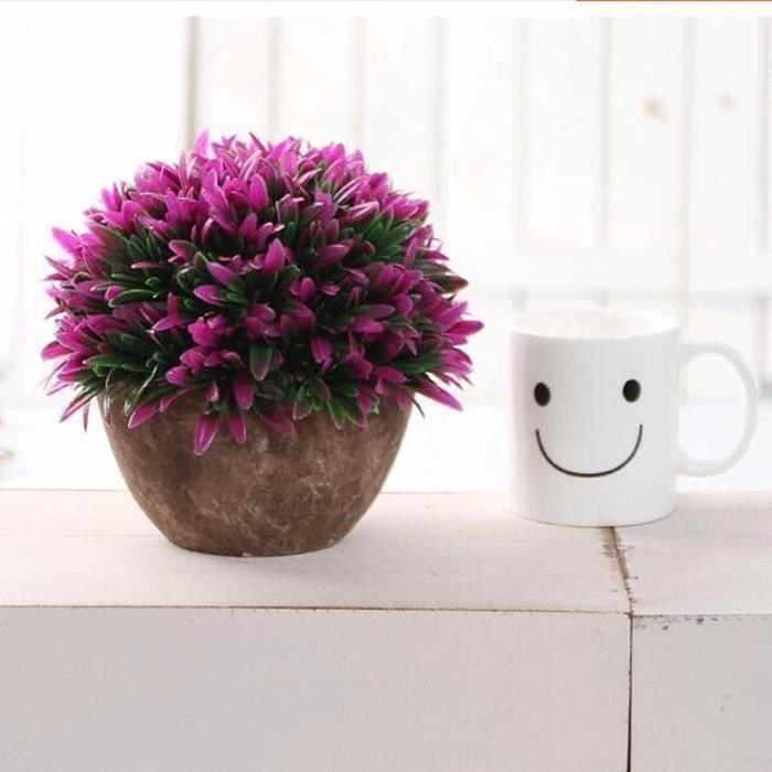 TEMPSA Fleur Pot Artificielle Pr Table Bureau Balcon MAISON Décor TYPE 5