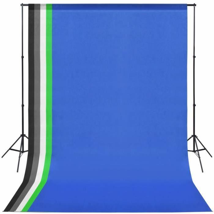 Kit de studio avec 5 toiles de fond colorées et cadre réglable -PAI