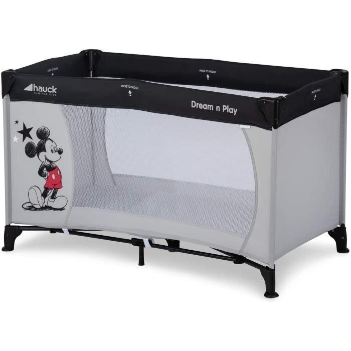 Hauck Disney Lit Parapluie Dream N Play / pour Bébés et Enfants de la Naissance jusqu'à 15 kg / 120 x 60 cm / Léger et Stable / Plia