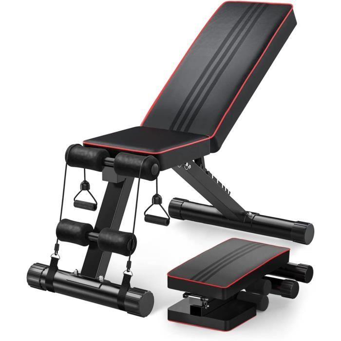 Banc de Musculation Pliable- Robuste pour l'entraînement complet du corps, Banc de Musculation Pliable pour Gym Domicile Bureau