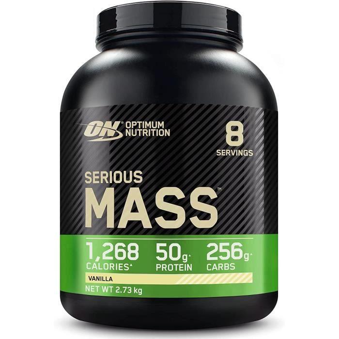 Optimum Nutrition Serious Mass, Mass Gainer avec Whey, Proteines Musculation Pr de Masse avec Vitamines, Creatine et Glutamine,189